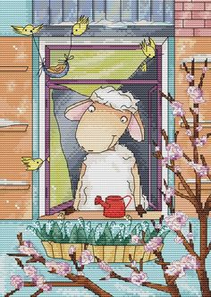 Овечка встречает весну. Дизайнер: Катерина Король