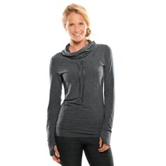 Flex Hoodie in teal (called Luxe Heather), size M   Moving Comfort #fitness #running