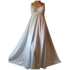 Vintage Olga Nightgown Blue Long Sleeping Pretty Lacy bodice XS S M Bra   vintagepretties  vintage 2c926c61f