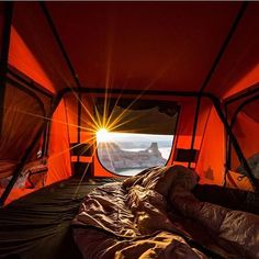 Tent Topped Camping, the perfect way to start the day! Photo from Tepui Tents