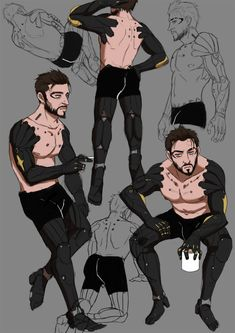 """pillowsketch: """"Another semester ends, here some Jensens. Sneaky People, Deus Ex Mankind Divided, Cyberpunk 2077, Shadowrun, Sci Fi Fantasy, Solitude, Geeks, Cod, Character Art"""