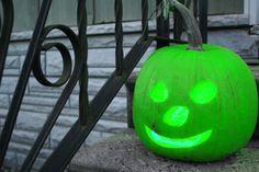 Lime green pumpkin