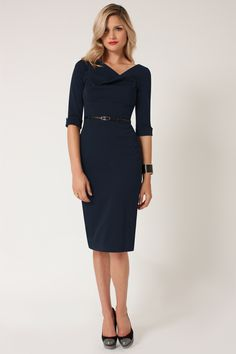 Stylish black dress. Always trendy. You can use it every seasonDresses with Sleeves - Jackie o Dress #black #dress #classy