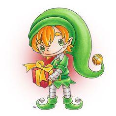 Prezzles Elf Digi Stamp in Digital images