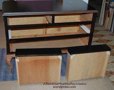 El dormitorio de Ana – Albentosa Muebles Reciclados Recycled Furniture, Chalk Paint, Recycling, Desk, Shelves, Painting, Home Decor, Furniture Painting Techniques, Restoring Old Furniture
