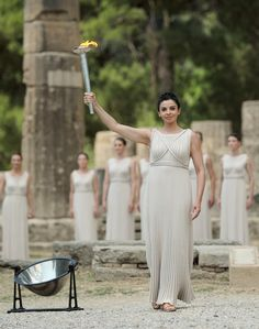 Olympic flame lighting