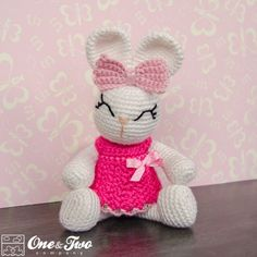 Olivia the Bunny Amigurumi Crochet Pattern by One and Two Company