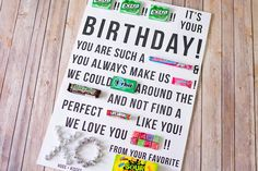 Two weeks ago I posted a Birthday Candy Gram and I've gotten several requests for more templates. Well ask and you shall receive!Here is a second candy gram that reads: {Extra}!! {Extra}!! {Extra}!! It's your BIRTHDAY! You are such a {Sweetart} and you always make us {Laffy Taff}! We could …