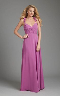 A-line Straps Charming Natural Waist Bridesmaid Dress