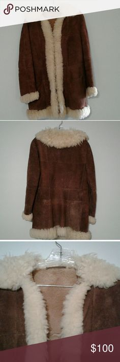 """Vintage Coat A genuinely bohemian vintage coat that was actually worn hiking in the Carpathian mountains. Perfectly on point with current 70's / Boho aesthetic but will probably make your skin crawl if you don't get it cleaned...well suited if you want to sleep with the chickens and make your own cheese--or just look like you do! There is no tag so not sure what size it is or if it is real leather or not. Pit to pit 19"""" sleeve 23"""" waist 18"""" length 32"""" missing eyelet 4 Jackets & Coats"""