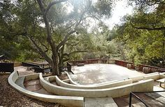 Really nice outdoor area. Has the built-in seating around the outside. Wedding Locations, Wedding Venues, Bridal Waves, Topanga Canyon, My Perfect Wedding, Built In Seating, Vintage Wedding Invitations, Vintage Glassware, Really Cool Stuff