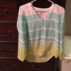 Long sleeve blouse. Beachy light weight long sleeve top. LC Lauren Conrad Tops Blouses