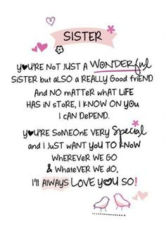 45 ideas birthday message for sister quotes life Birthday Messages For Sister, Message For Sister, Birthday Card Sayings, Birthday Wishes Quotes, Sister Messages, Sister Birthday Quotes Funny, Birthday Images, Happy Birthday For Sister, Birthday Caption For Sister