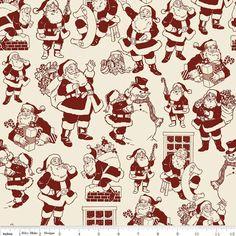 Fat Quarter verloren & gefunden Santa rot Steppung Weihnachtsstoff - Riley Blake