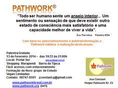 Pathwork - Palestra Introdutória - Dia 13 de Fevereiro - Portal SER - Saúde, Energia & Resgate
