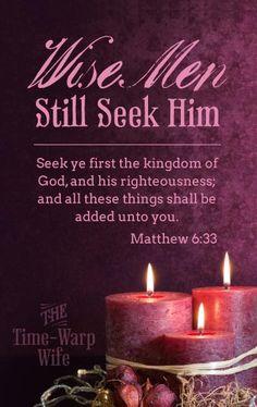 Matthew 6:33 (KJV)