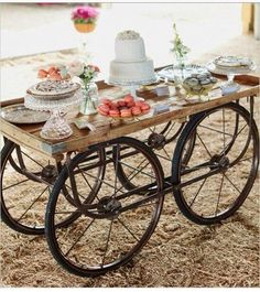 We just love our new wagon- SMITH.  Just perfect for that rustic chic event for desserts or a gift table.