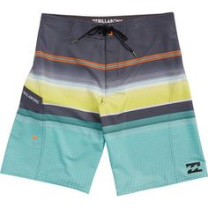 Billabong All Day Stripe X Mens Polyester Stretch Boardshorts 32 Lime New Swimwear
