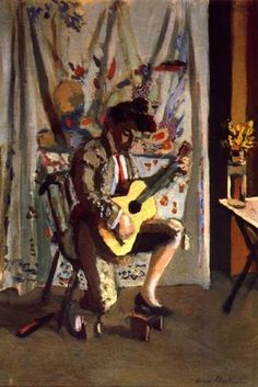 Guitarist by Henri Matisse, Oil on canvas, x ~via Arte Moderna, FB Henri Matisse, Matisse Kunst, Matisse Art, Marcel Duchamp, Pablo Picasso, Matisse Paintings, Post Impressionism, Klimt, Andy Warhol