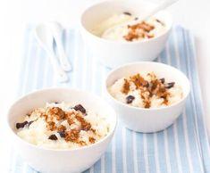 Rýžový nákyp s rozinkami pro děti | Recepty Albert Breakfast Recipes, Cereal, Oatmeal, Harry Potter, Food, Fitness, Tips, The Oatmeal, Rolled Oats