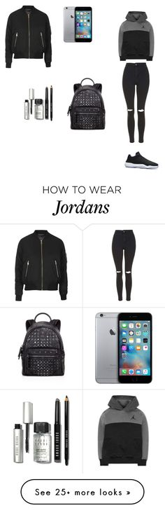 """""""Untitled #100"""" by soni-camgoez on Polyvore featuring Topshop, NIKE, MCM, Bobbi Brown Cosmetics, women's clothing, women, female, woman, misses and juniors"""
