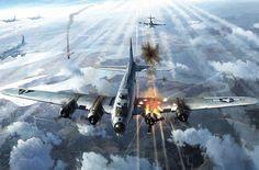 B-17 Hit, by John Wallin Liberto