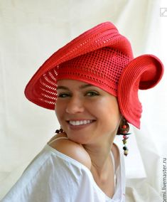 Tina's handicraft : 14 designs & patterns for hats Crochet Snood, Form Crochet, Knitted Hats, Wig Hat, Beanie Hats, Beanies, Summer Scarves, Summer Hats, Crochet Scarf For Beginners