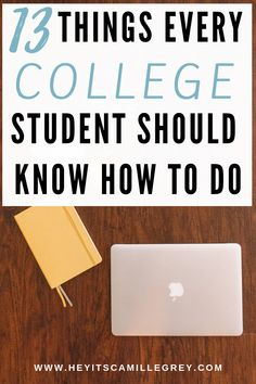 13 Things Every College Student Should Know How to Do. Learn what you should be doing while living in the dorms and on campus. | Hey Its Camille Grey #college #student #dormlife