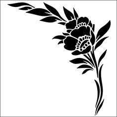Flower stencils from The Stencil Library. Stencil catalogue quick view page Stencil Patterns, Stencil Designs, Stencil Painting, Fabric Painting, Sign Painting, Stenciling, Rosa Stencil, Stencils Online, Korean Painting