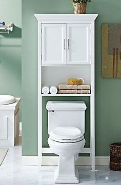 Put That Unused Space Over The Toilet To Work. This Well Designed Space  Saver CABINET