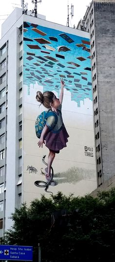 São Paulo, Brasil - Street Art & Graffiti - AMAZING Mural from the Centro region of São Paulo, Brasil. Wherever I am in the city...you find incredible pieces of work. Original photography from R. Stowe.