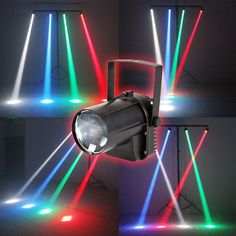 AOBO Lighting 3W Colorful RGB LED Pin Spot Stage Light Disco DJ Show Beam Effect Lighting #Affiliate