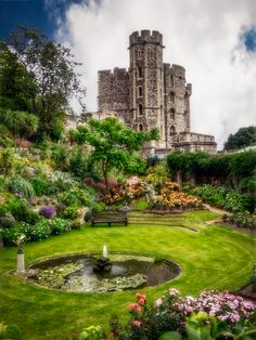 The Queens Garden - Windsor Castle, England