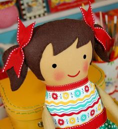 handmade doll face embroider | HOW TO EMBROIDER FACES – Embroidery Designs