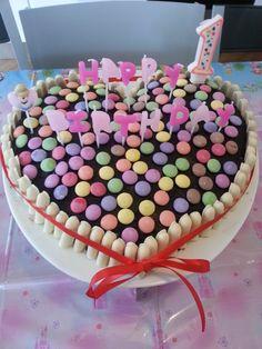 Gâteau anniversaire smarties