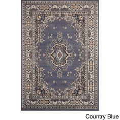 """Home Dynamix Premium Collection Traditional Area Rug (7'8X10'7) (Country Blue Traditional 7'8"""" X 10'7"""" Area Rug), Size 7'8"""" x 10'7"""" (Olefin, Border)"""