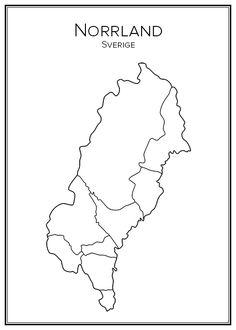 City Print, Print Print, Lappland, Hem, Grey's Anatomy, Teaching Tools, Social Studies, Sweden, Tatoos
