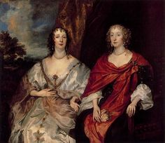1630s (late) Ladies Anne Dalkeith, later Countess of Morton, and Anne Kirke by Sir Anthonis van Dyck (Hermitage) | Grand Ladies | gogm