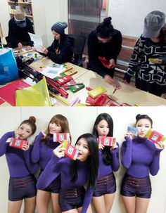 EXID prepare specially packaged pepero for their fans