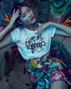 Shere Khan replaced the signature Tiger motif for KENZO x Disney special collection dedicated to The Jungle Book! feature via W magazine.