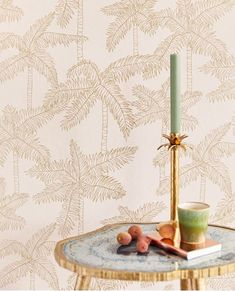 Palm Tree by Eijffinger - Pale Pink : Wallpaper Direct Tree Wallpaper Pink, Botanical Wallpaper, Cartoon Wallpaper, Wall Wallpaper, Wallpaper Ideas, Estilo Floral, Cardboard Christmas Tree, Tropical Interior, Woodland Christmas