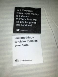 Sometimes, life deals you the perfect hand  #CardsAgainstHumanity