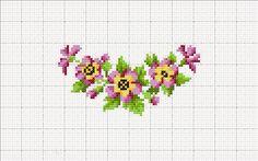 Ricami, lavori e centinaia di schemi a punto croce di tutti i tipi, gratis: Raccolta di schemi a punto croce: fiori per la casa