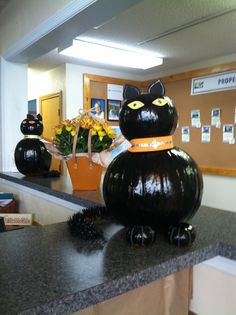 Sun Realty staff decorated #pumpkins for #halloween on the #OBX.