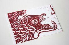Linogravure Fish Illustration