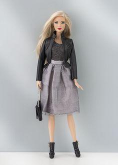 cazadora piel barbie: