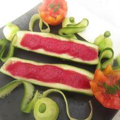 Garden salad with Beet Foam by Chef Erum Basit (Karachi, Pakistan).