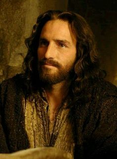 Jim Caviezel in the role of Our Lord Jesus Christ.
