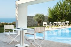 SIFAS in-outdoor living furniture : Collection OSKAR Aluminium laqué