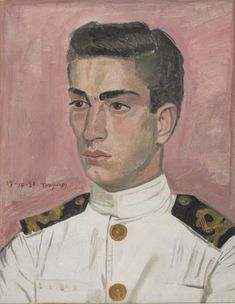 Officer  mariner on pink background - Yiannis Tsaroychis